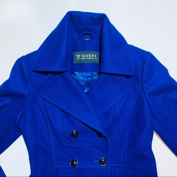 Guess Jackets & Blazers - Guess royal blue pea coat